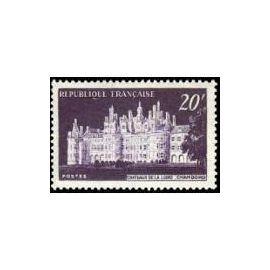 Timbre France Oblitéré  1952 Chateau de Chambord 20f. Yvert 924