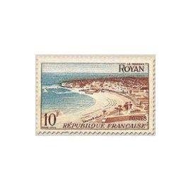 Timbre France Oblitéré  1954 Royan  10f. Yvert 978