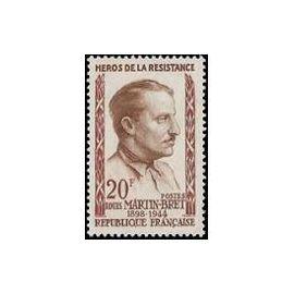 Timbre France Oblitéré 1959 Louis Martin Bret  20f. Yvert 1201