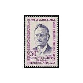 Timbre France Oblitéré 1959 Gaston Moutardier  20f. Yvert 1201