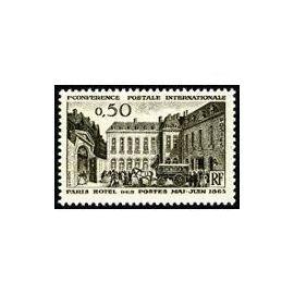 Timbre France Neuf 1963 Centenaire 1ère Conférence Postale 0,50f. Yvert 1387