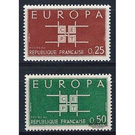 Timbre France Neuf 1963 Europa (Lot de 2) 0,25/0,50f. Yvert 1396/97