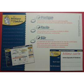 Carte La poste La boutique du Timbre 1999 21cm sur 15