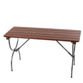 Table de jardin LINZ, bois massif, pliable, 150x60x81cm