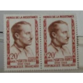 Timbre  France Neuf 1959 Bloc 2 timbres Louis Martin Bret . Yvert 1201