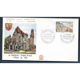 france enveloppe fdc premier jour timbre n° 1355 le touquet paris plage 1 er septembre 1962