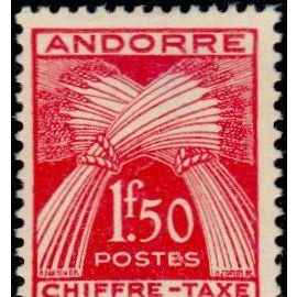 TIMBRE TAXE ANDORRE N°25 NEUF**
