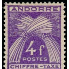 TIMBRE TAXE ANDORRE N°28 NEUF**