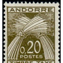 TIMBRE TAXE ANDORRE N°44 NEUF**
