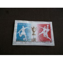 timbre france 1977:60ème année coupe de france de football 1917-1977.