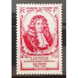 France - Louvois 4f50+5f50 Rose Carminé (Très Joli n° 779) Neuf* - Année 1947 - N16521