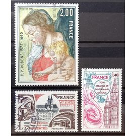 France - Abbaye des Prémontrés (N° 1947) + Tour Abbatiale de St-Amand-Les-Eaux (N° 1948) + Rubens - Vierge à l