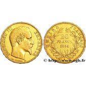 Pièce Or Napoléon Iii 1854 20 Francs