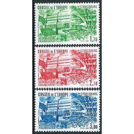 france 1984, belle série 3 valeurs timbres de service du conseil de l