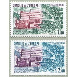 france 1982, très beaux exemplaires timbres de service du conseil de l
