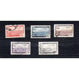 Algérie- Lot de 5 timbres oblitérés - Poste aérienne- Port d