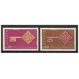 TIMBRES NEUFS - FRANCE - 1968 - YT 1556 + 1557 - EUROPA