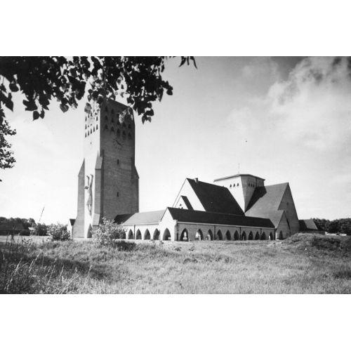 Carte Postale Noir Et Blanc Eglise Saint Nicolas Oostduinkerke Rakuten
