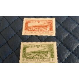 timbre guyane francaise 1933