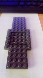 Plaque spéciale GRIS F//D GREY plate Lot x4 Lego 6185675-32802