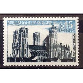 Cathédrale de Laon 0,15 (Impeccable n° 1235) Neuf** Luxe (= Sans Trace de Charnière) - France Année 1960 - N18134