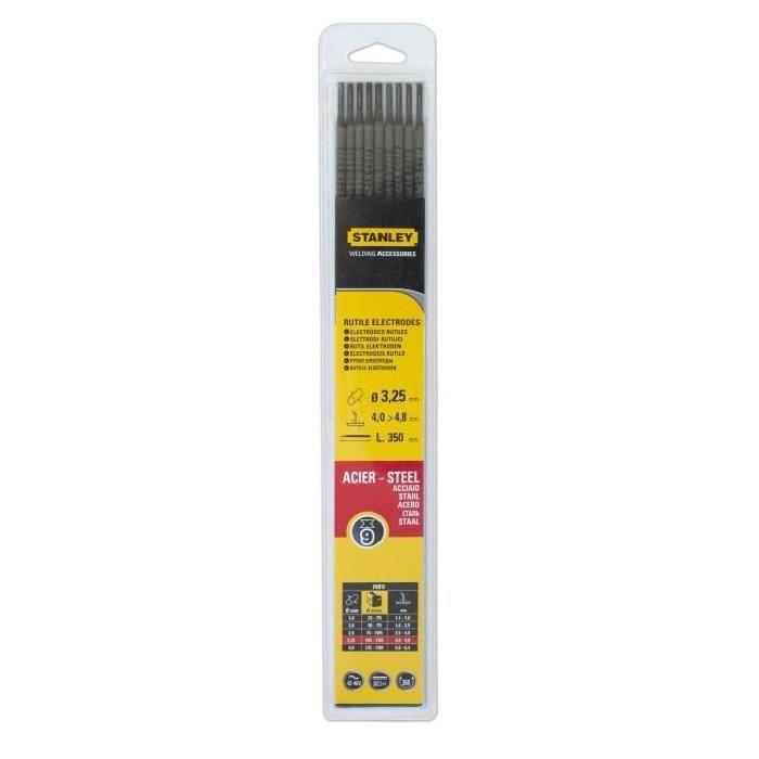 Stanley 460732 Electrode acier Diam/ètre 3,25 mm 9 pi/èces