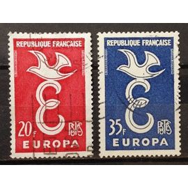 Série Europa 1958 - Colombe Sur E - n° 1173-1174 Obl - N16372