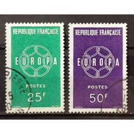 Série Europa 1959 - Chaînes - n° 1218-1219 Obl - N16340