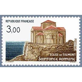 france 1985, très bel exemplaire neuf** luxe yvert 2352, église de talmont en saintonge romane.