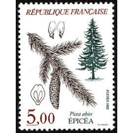 france 1985, très bel exemplaire neuf** luxe yvert 2387, faune et fleurs de france, les arbres, l