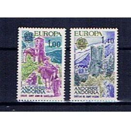 Andorre Français Europa CEPT 1977 neufs **