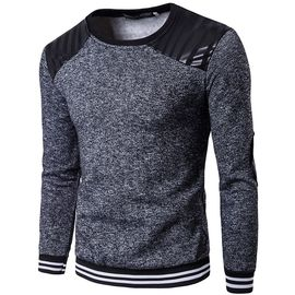 the latest 89f85 71e24 Sweat Homme Sport de Épissure Sweatshirt Hommes en Col rond la mode  Pullover Casual de Vêtements homme-Gris ZS300556