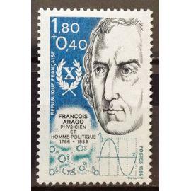Personnages Célèbres - François Arago 1,80+0,40 (Magnifique n° 2396) Neuf** Luxe (= Sans Trace de Charnière) - France Année 1986 - N18694