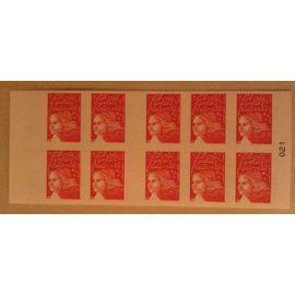 Carnet 10 Timbres Marianne du 14 juillet TVP Yvert et Tellier n°3419-C16 La boutique web du timbre Neuf non plié