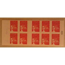 Carnet 10 Timbres Marianne du 14 juillet TVP Yvert et Tellier n°3419-C16 RGR-2 La boutique web du timbre Neuf non plié