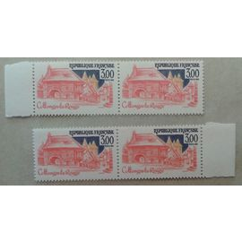 2 Blocs de 2 Timbres Bords de Feuille France 1982 Yvert et Tellier n°2196 Collonges-la-rouge Neuf** Gomme Intacte