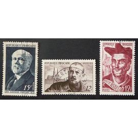 France oblitéré  Y T  864 à 865  lot de 3 timbres de 1950   cote 2 €