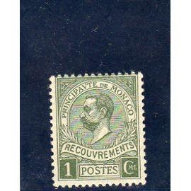 Timbre-taxe de Monaco (prince Albert 1er)