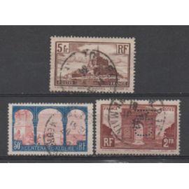 FRANCE 1929 à 1930: Lot de3 timbres N° 258, 260 et 263.