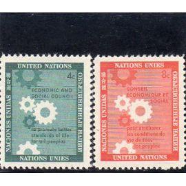 Timbres-poste des Nations Unies, Bureau de New-York (Conseil économique et social pour l