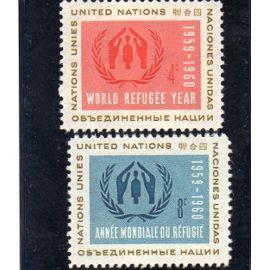 Timbres-poste des Nations Unies, Bureau de New-York (Année mondiale du Réfugié)