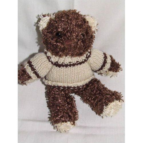 peluche doudou ours marron beige 20 cm enesco