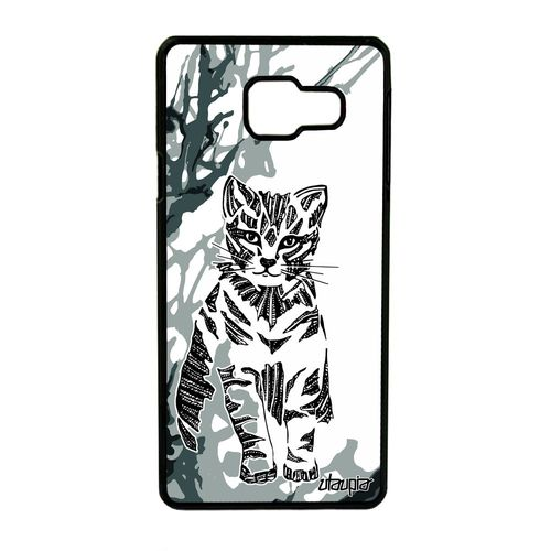 Coque Samsung A3 2016 chat noir et blanc swag solide telephone a ...