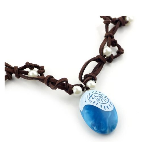 Moana Adventure Vaiana Ocean Colliers Blue Stone Colliers Et Pendentifs Collier