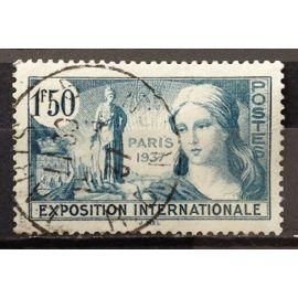 Exposition Internationale Paris 1937 1f50 Bleu-Vert (Très Joli n° 336) Obl - N19109