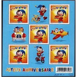 brance année 2008 bloc n° 120 neuf** joyeux anniversaire oui oui 5 timbres n°4183