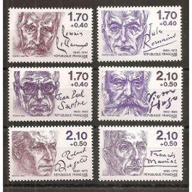 2355 à 2360 (1985) Série des Ecrivains N** (cote 15e) (4638)
