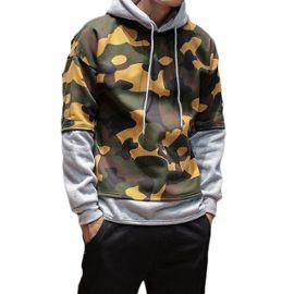 Sweat capuche homme Camouflage Sweatshirt hommes en coton