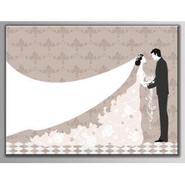Tableau A Empreintes Pour Les Invites Pour Les Evenements Comme Mariage Anniversaire Bapteme Communion 30x40 Cm Robe De Mariee Rakuten