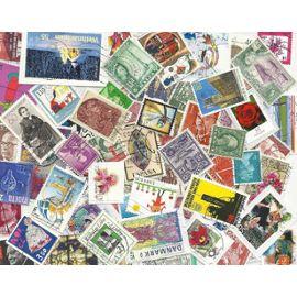 100 timbres MONDE Différents